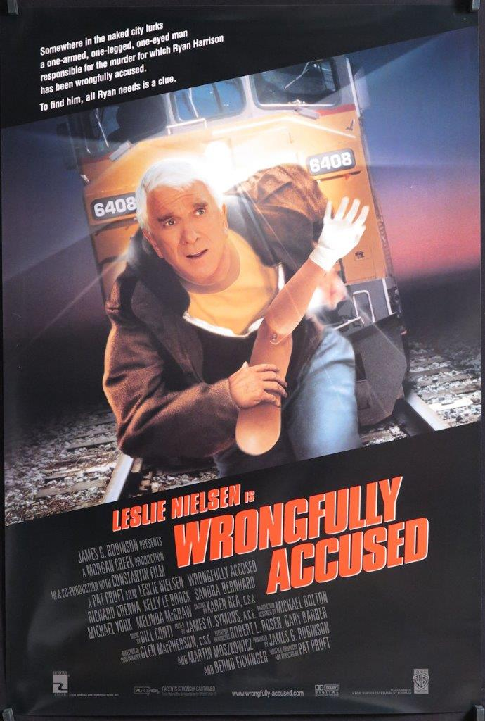 A217 WRONGFULLY ACCUSED 1sh movie Poster, '98 Leslie ...