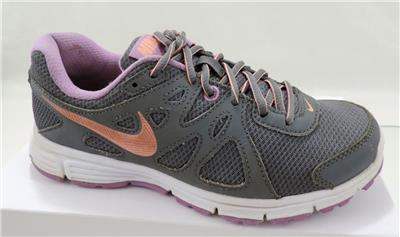online store 8aeef f95d9 Women s Nike Revolution 2 Running Shoes Sneakers Grey   Fuchsia   White Size  6.5