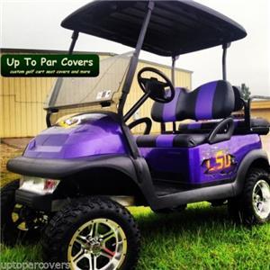 Club Car Precedent Golf Cart Front Seat Cover Set Flat