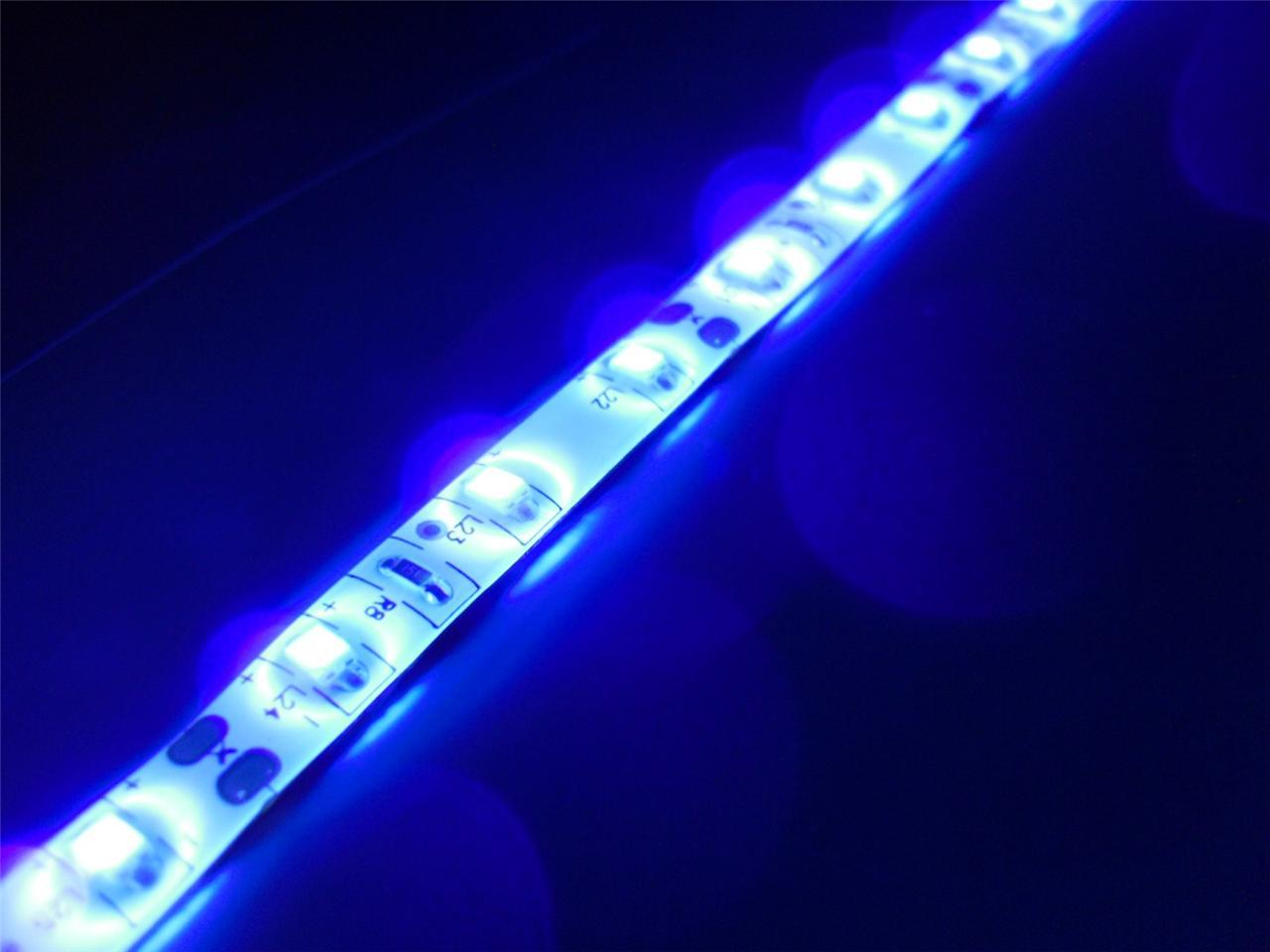 Uv Black Light Waterproof Led Light Strips Tank Night Fishing Boat Dock W Leads Ebay