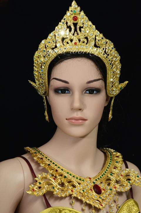 Thai Dance Ramthai Headdress Tiara Head Costume Theater