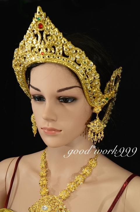 COSTUME WEDDING TRADITIONAL DRESS JW227 T12 THAI JEWELRY SET