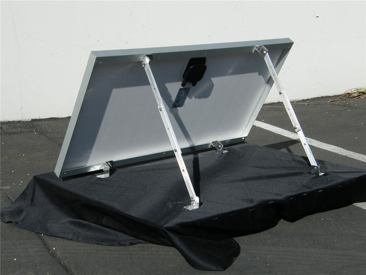 Solar Panel Universal Tilt Mount Kit for RV Trailer Mobile ...