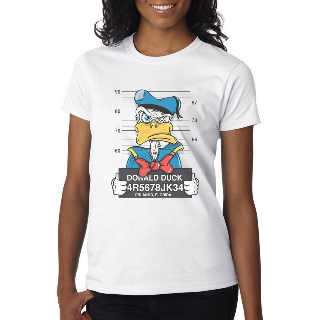 Disney-Mugshot-T-Shirt-Mens-Womens-Funny-T-Shirt-Donald-Goofy-Pluto-Daisy