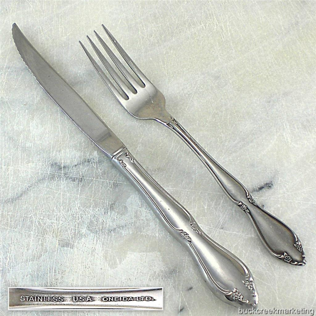Berkeley Square Oneida Stainless Flatware Vintage 1970s