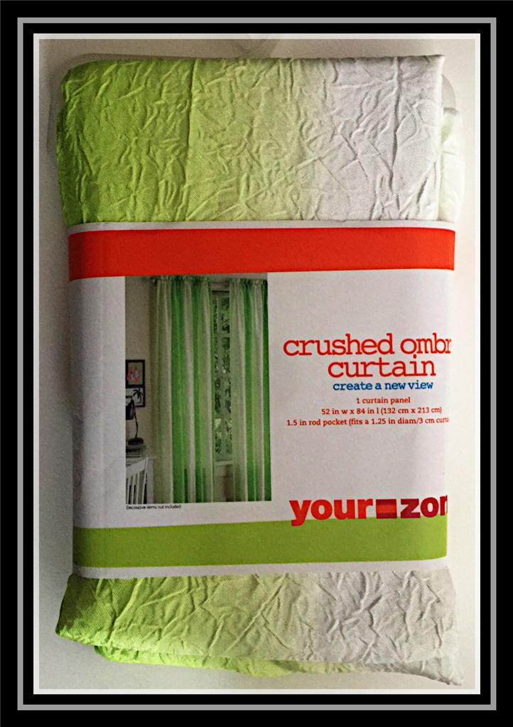 Your Zone Crushed Ombre Window Panel 52 Quot X 84 Quot Lime Apple