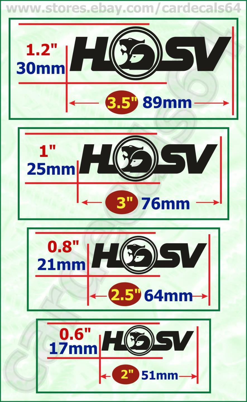 8 x hsv brake caliper decal sticker car emblem logo high