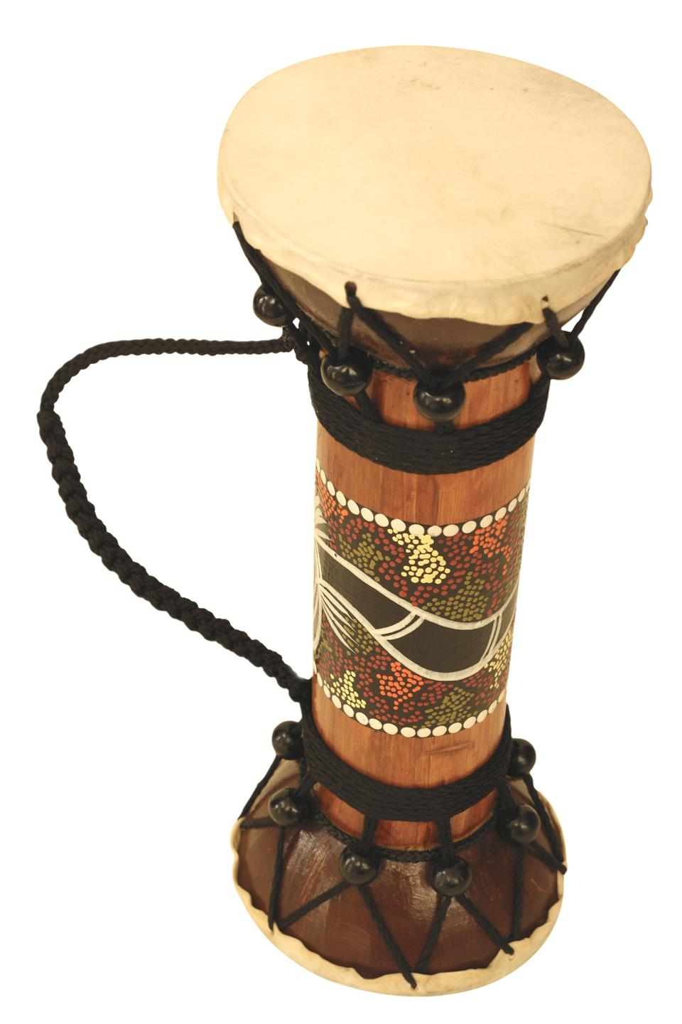 11.5″ Wooden Hand Carved Double Sided Drum Djembe African Wood Decor Kids Gift