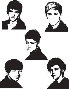 One Direction Decal Wall Sticker Art Home Decor Stencil