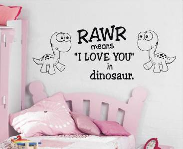 Rawr Means I Love You Quote Decal Wall Sticker Art Decor