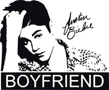 JUSTIN BIEBER BOYFRIEND Quote Decal WALL STICKER Art Decor Silhouette Girl ST23 eBay - Bedroom Wall Quote Stickers