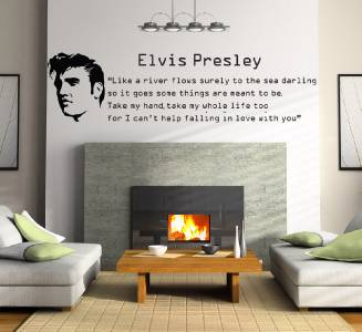 Elvis Presley Falling In Love Quote Decal Wall Sticker