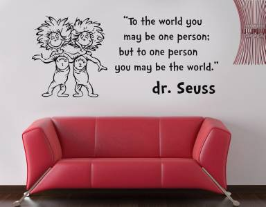 SEUSS THING 1 2 Inspirational Quote Decal WALL STICKER Words Decor Art SQ61