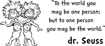 Dr Seuss Thing 1 2 Inspirational Quote Decal Wall Sticker Words