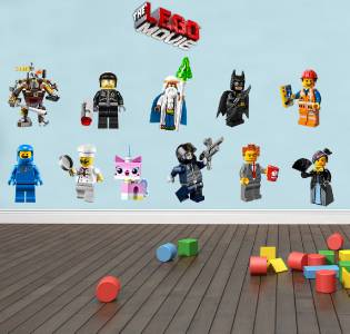 Superieur LEGO MOVIE   11 WALL STICKERS + LOGO