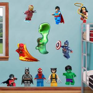 LEGO MARVEL SUPER HEROES Decal Removable WALL STICKER Decor Art - Lego superhero wall decals