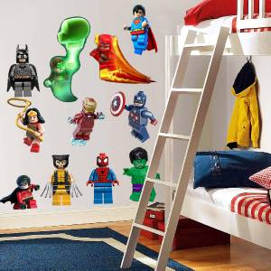 LEGO DC SUPER HEROES   11 WALL STICKERS