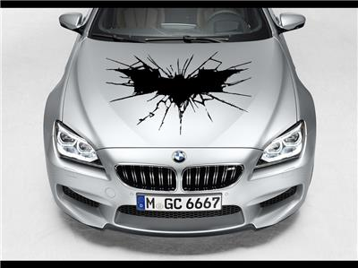 The Dark Knight Batman Hood Car Decal Race Sports Grpahic Art - Sport decal stickers for cars