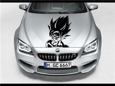 GOKU Dragon Ball Z Hood Car Decal Race Sports Grpahic Art Sticker - Sporting car decals