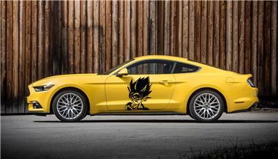 Goku Dragon Ball Z Side Door Car Decal Race Sports Grpahics