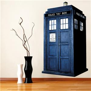DOCTOR WHO TARDIS   WALL STICKER Part 51