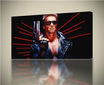 Arnold Schwarzenegger Terminator Movie Home Wall Art Canvas Picture Print A1 A0