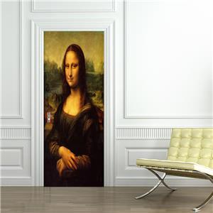 Mona Lisa Da Vinci WALL STICKER Decal Art Mural Stencil Silhouette ST153