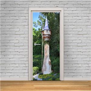 Tangled Rapunzel Tower Disney 3d Door Wrap Decal Wall Sticker Mural Art D256 Home Garden Decor Decals Stickers Vinyl Art