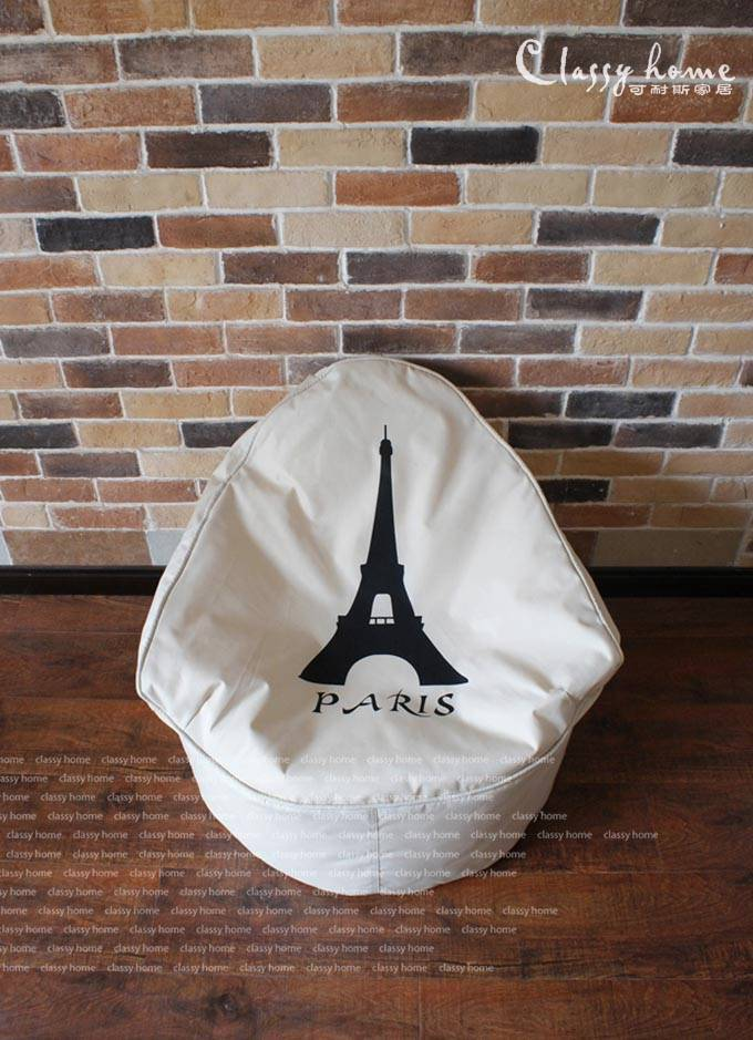 price drop sale modern vintage eiffel tower paris lounge chair bean bag cover ebay. Black Bedroom Furniture Sets. Home Design Ideas