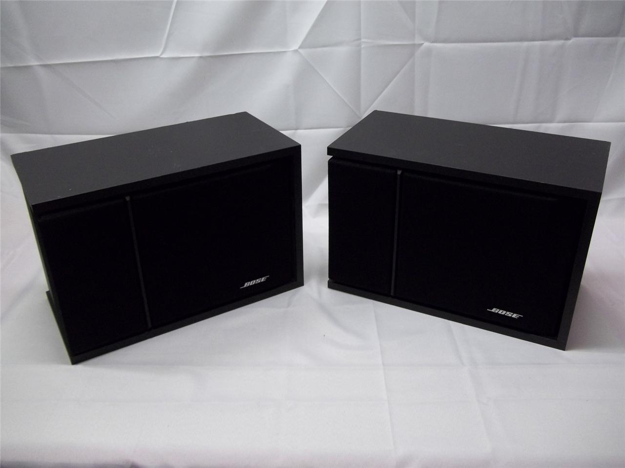 2 Bose 201 Series III Bookshelf Speakers Black | eBay