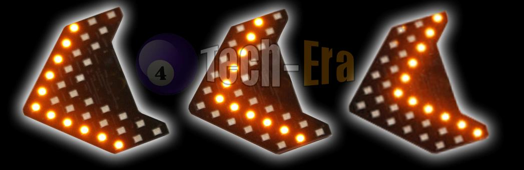 Amber 33 Smd Sequential Led Arrows Panel For Car Side