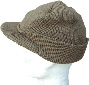 WWII Type M1941 US Army Military OD Knitted Wool Woollen Jeep Cap   Beanie  Hat fb4ea27e070