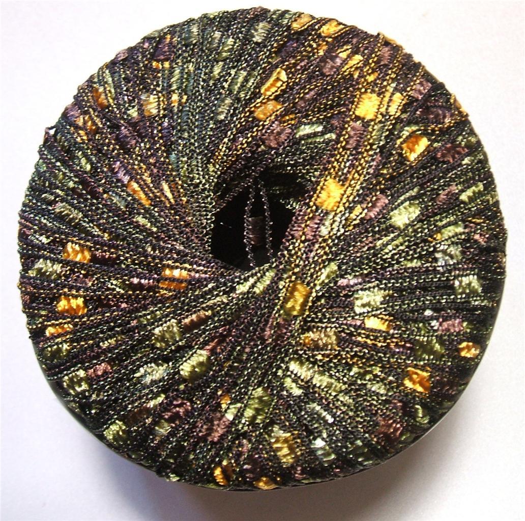 Dazzle Knitting Fever Ribbon Ladder Trellis Italy Yarn