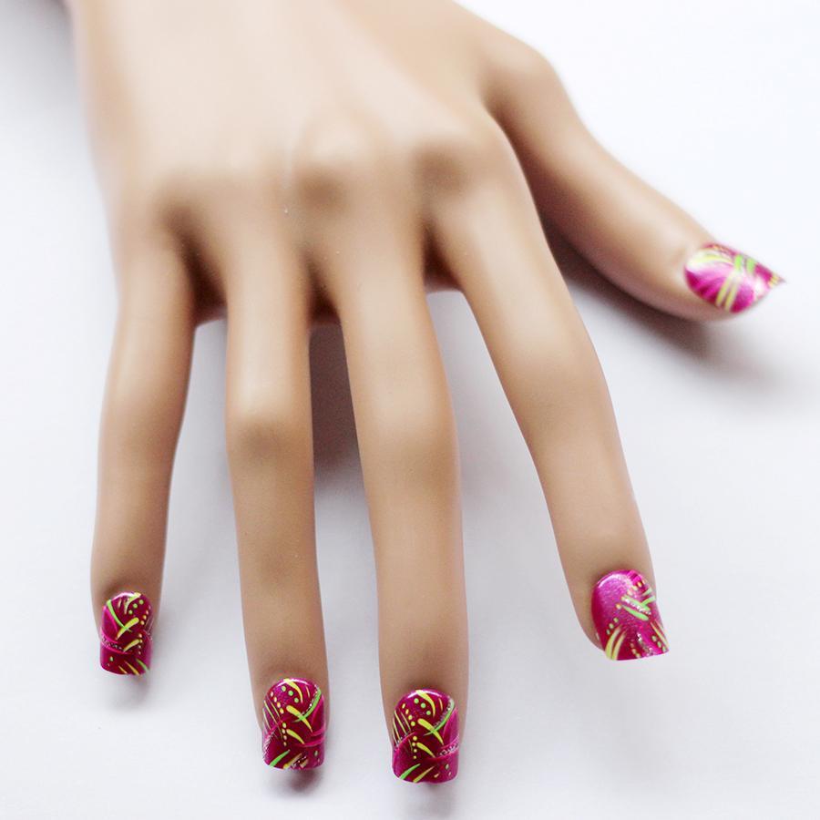 Dress Disney Princess Nails: 12pcs Disney Princess Cute Pre-design Fake False Nails For