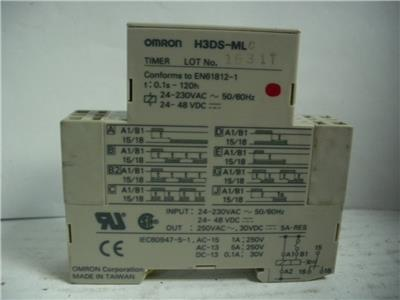 NEW OMRON  Circulating TWIN TIMER  H3DS-FL  0.1S-12H POWER 24-230VAC OR 24-48VDC
