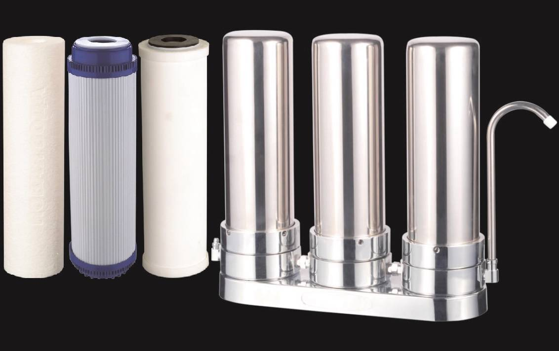 Countertop Ceramic Water Filter Stainless Steel Home