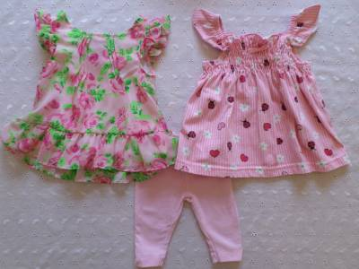 Baby Girl Clothes Lot Dresses Leggings and Bloomers 0 3 Months Cute