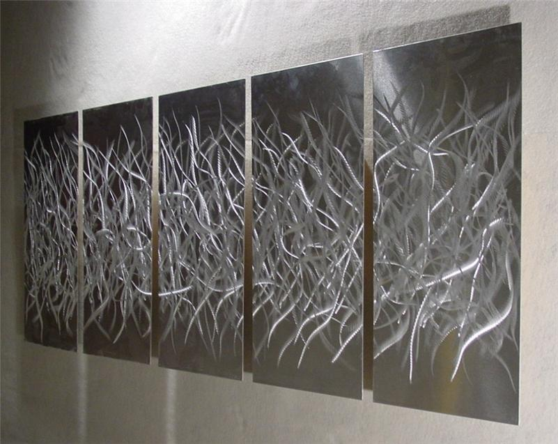 Metal Wall Art Abstract Artist Metal Painting Contemporary