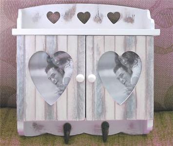 Shabby Chic Wall Key Cupboard Shelf Coat Hooks Storage