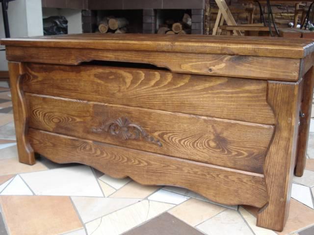 Wooden Blanket Box Coffee Table Trunk Vintage Chest Wooden Ottoman Toy Box Ba1 Ebay
