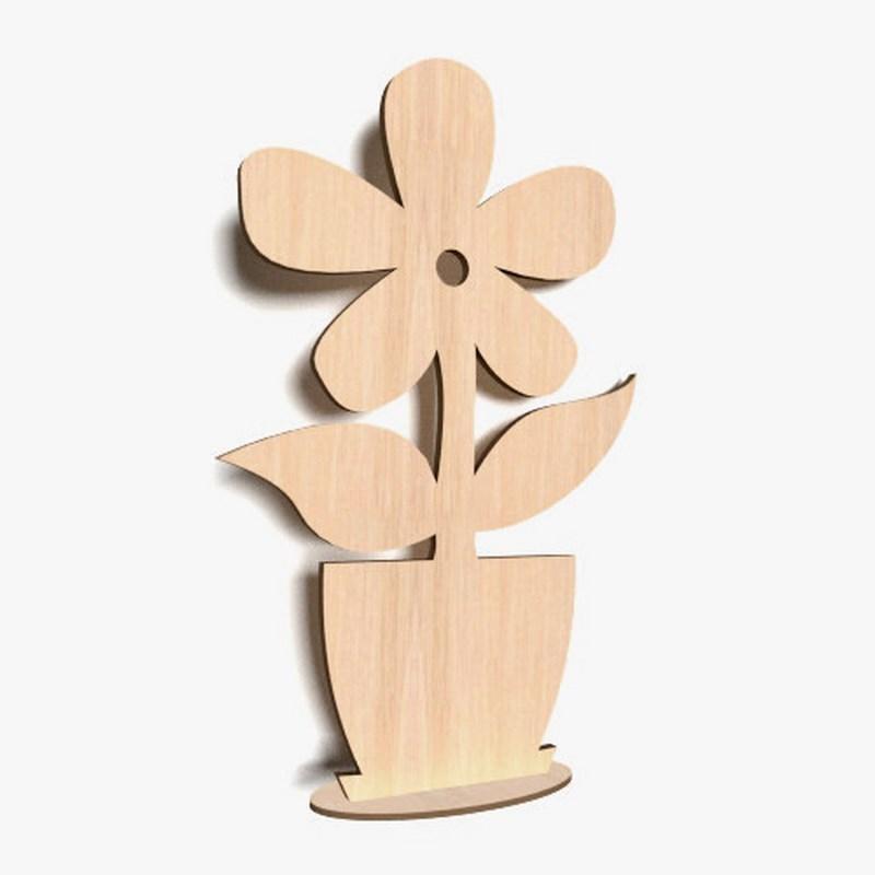 10x wooden flowers plain stand shapes gift tags blank decoration craft shape fl ebay. Black Bedroom Furniture Sets. Home Design Ideas