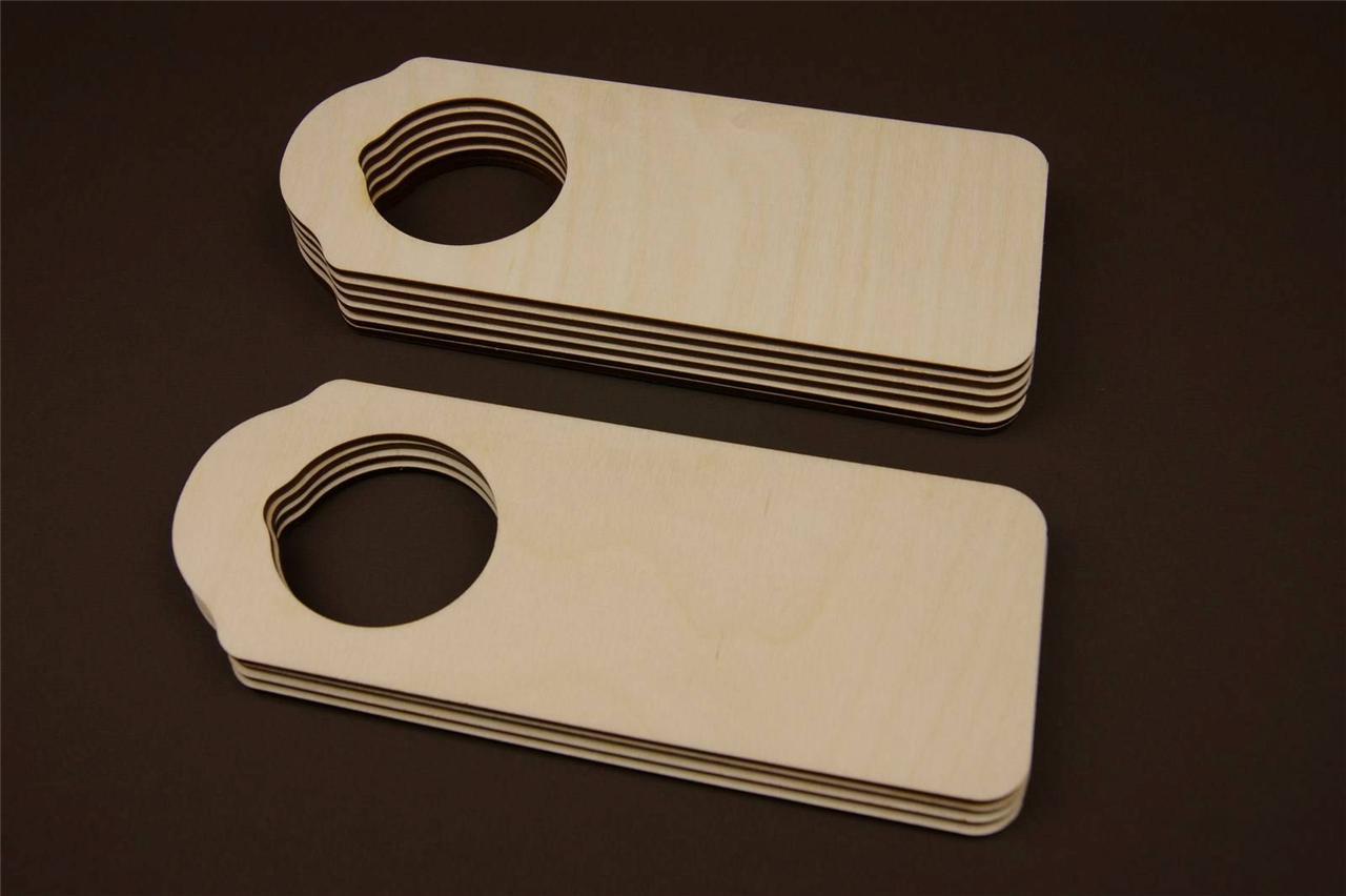 blank wooden door hangers