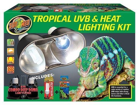 Zoo Med Tropical Uvb Amp Heat Lighting Kit Aquarium