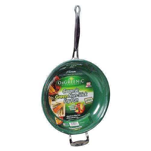 12 Quot 10 Quot 8 Quot Orgreenic Frying Pan Eco Organic Safe Cooking