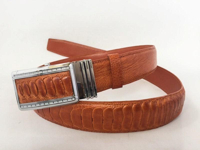 100 Genuine Tan Ostrich Legs Leather Skin Men S Belt