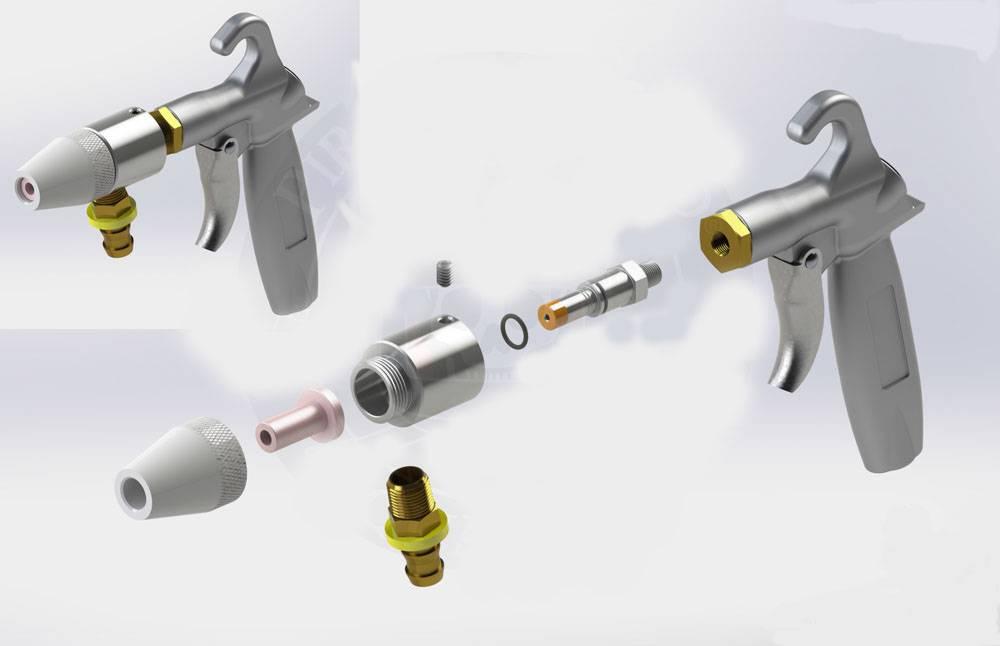 HEAVY DUTY SUCTION SANDBLAST CABINET TRIGGER GUN 5/16