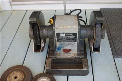 Sears Craftsman 257191601 Professional 1hp Bench Grinder