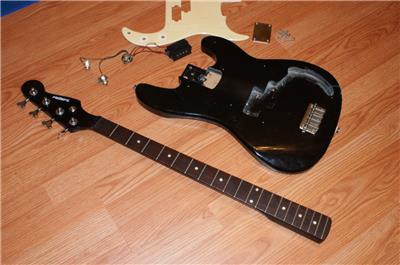 karera 4 strings bass electric guitar for parts ebay. Black Bedroom Furniture Sets. Home Design Ideas