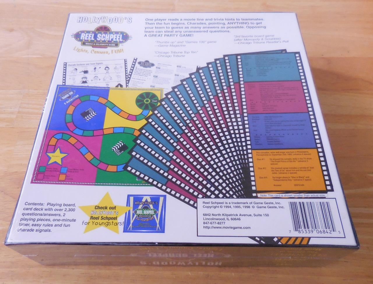 Details about Hollywood's REEL SCHPEEL Movie Lines Board Game by Game Geste  - New/Sealed