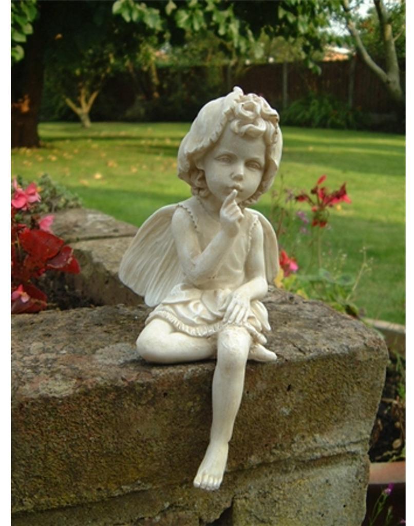 Garden Statue Fairy: New Garden Sitting Fairy Ornament Figurine Angel Statue